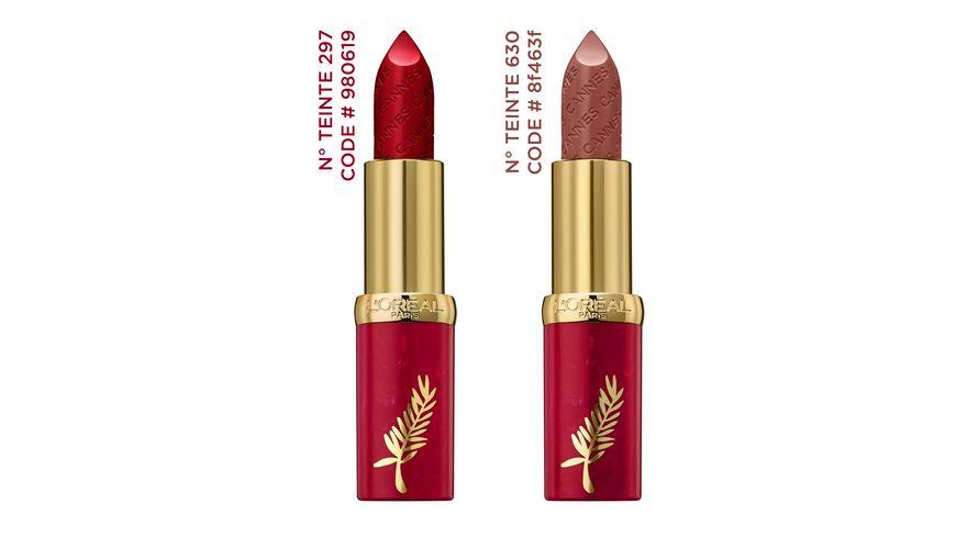 L OREAL PARIS Color Riche Lippenstift Beige a Nu 630 limitierte Cannes Edition