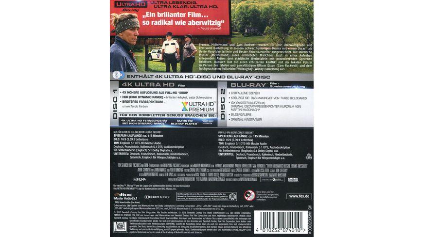 Three Billboards Outside Ebbing Missouri 4K Ultra HD Blu ray