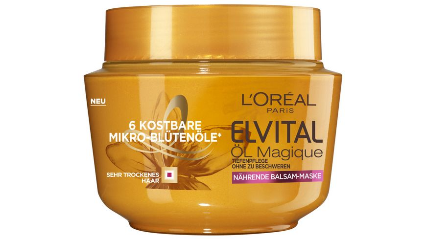 L'ORÉAL PARIS ELVITAL Öl Magique Intensivkur Nährende Balsam-Maske