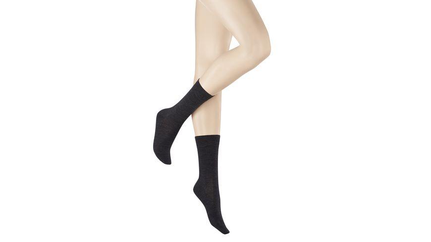 KUNERT Socken SOFT WOOL COTTON aus Wolle
