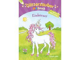 Buch Tessloff Glitzerzauber Malblock Einhoerner