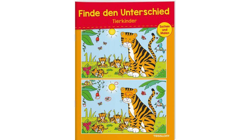Buch Tessloff Finde den Unterschied Tierkinder
