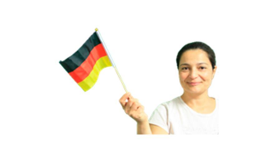 Deutschland Handfahne