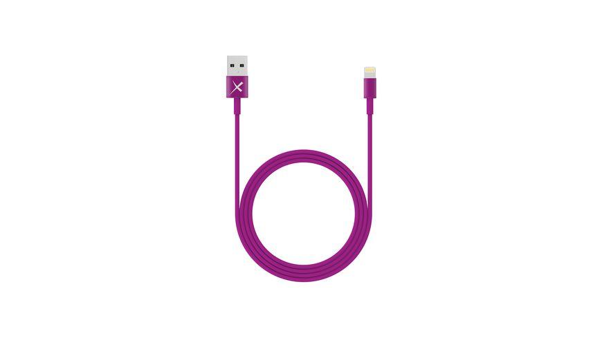Xlayer Kabel Colour Line Lightning Lade Sync Kabel 1m Purple