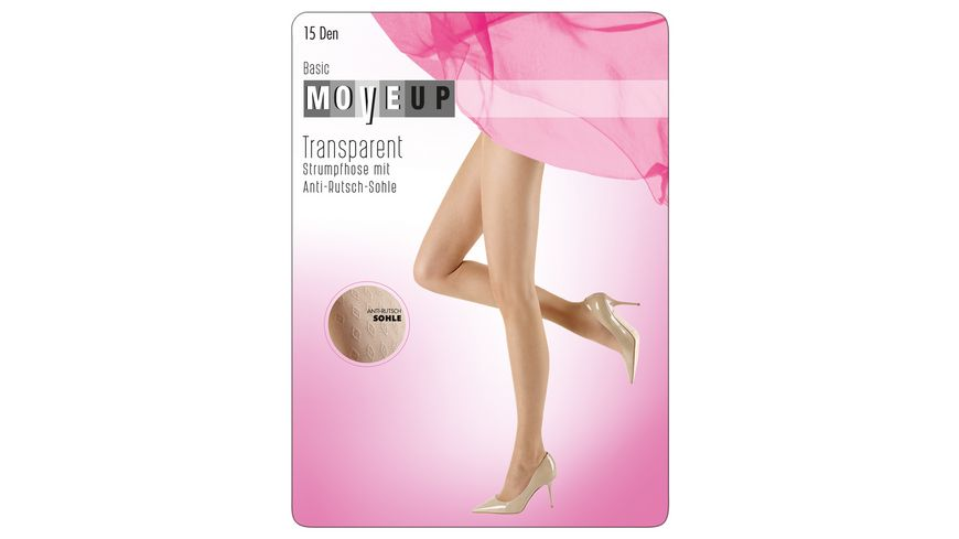 MOVE UP Feinstrumpfhose mit Anti Rutsch Sohle 15