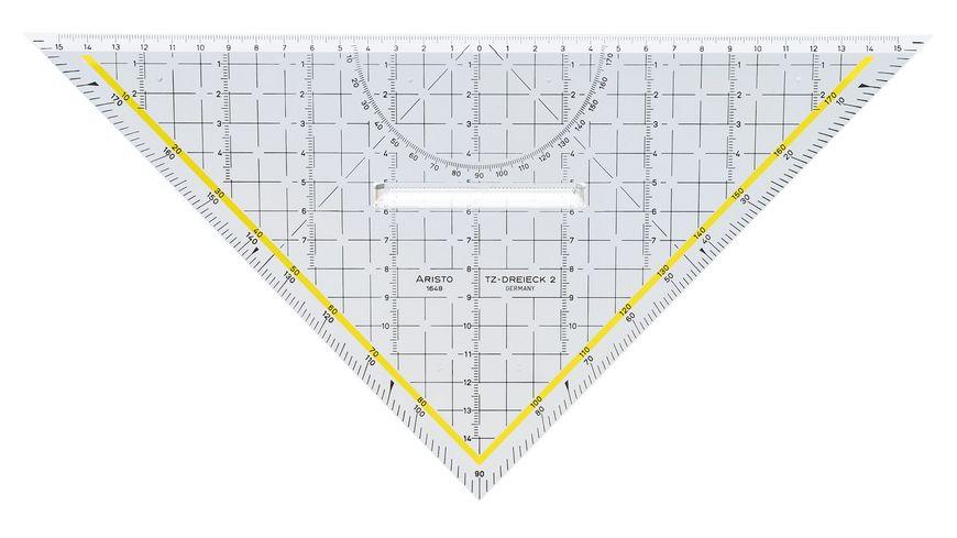 ARISTO Geometrie Dreieck mit Griff 32 5cm