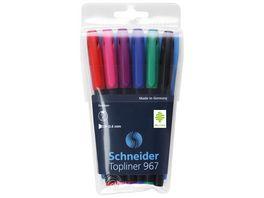 Schneider Fineliner 967 6er Etui