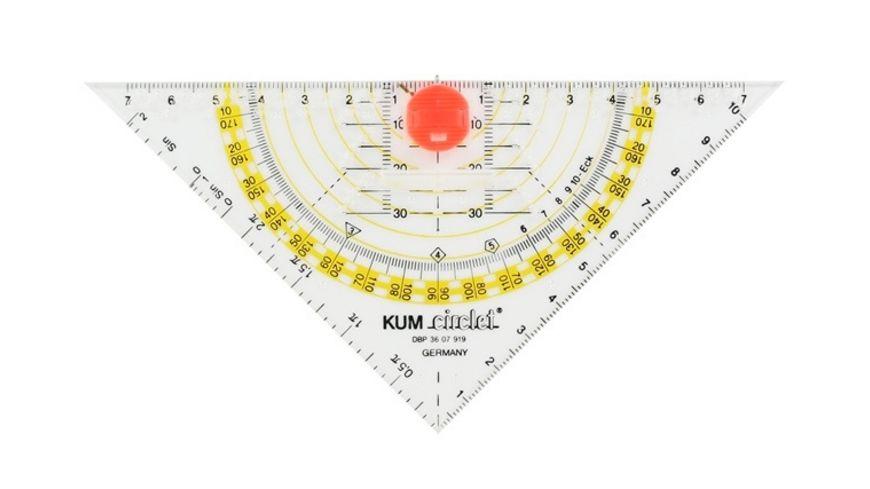 KUM Geodreieck 16 cm Zirkel