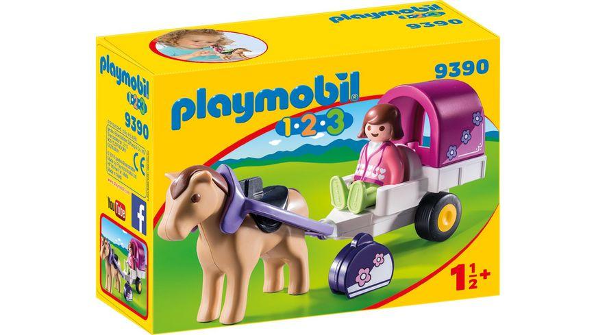 PLAYMOBIL 9390 1 2 3 Pferdekutsche