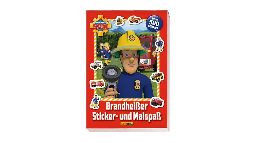 Buch Panini Feuerwehrmann Sam Brandheisser Sticker und Malspass ueber 500 Sticker