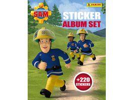 Buch Panini Feuerwehrmann Sam Sticker Album Set