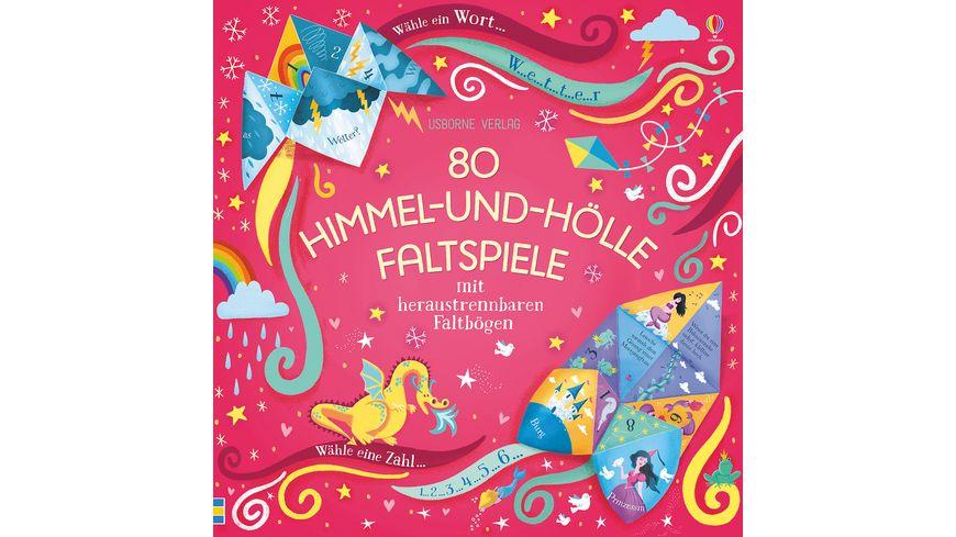Buch Usborne Verlag 80 Himmel und Hoelle Faltspiele