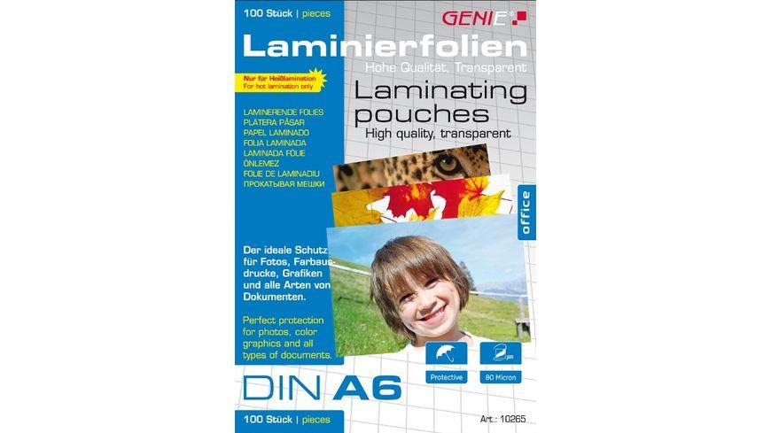 GENIE Laminierfolien DIN A6