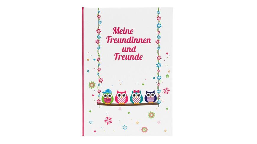 Goldbuch Freundebuch Eule