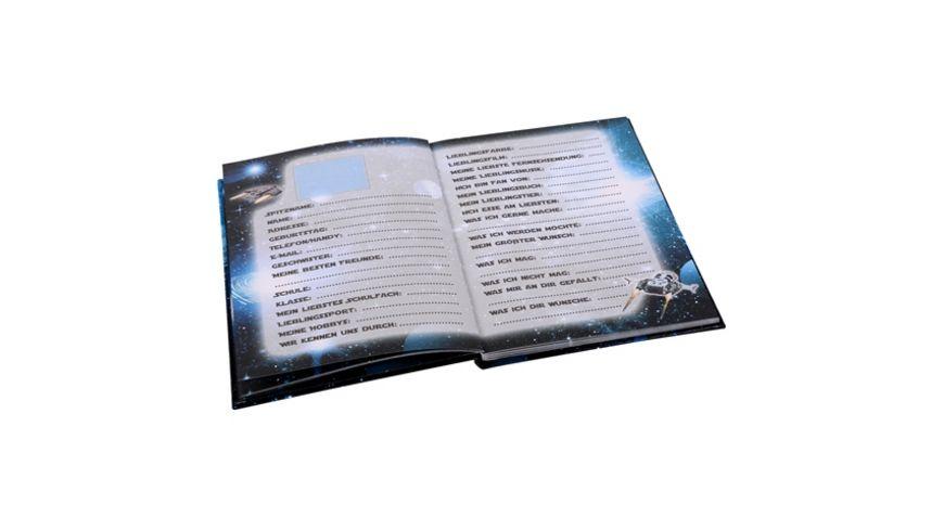 Goldbuch Freundebuch Raumschiff