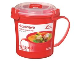Sistema Mikrowellen Suppentasse 656 ml rot