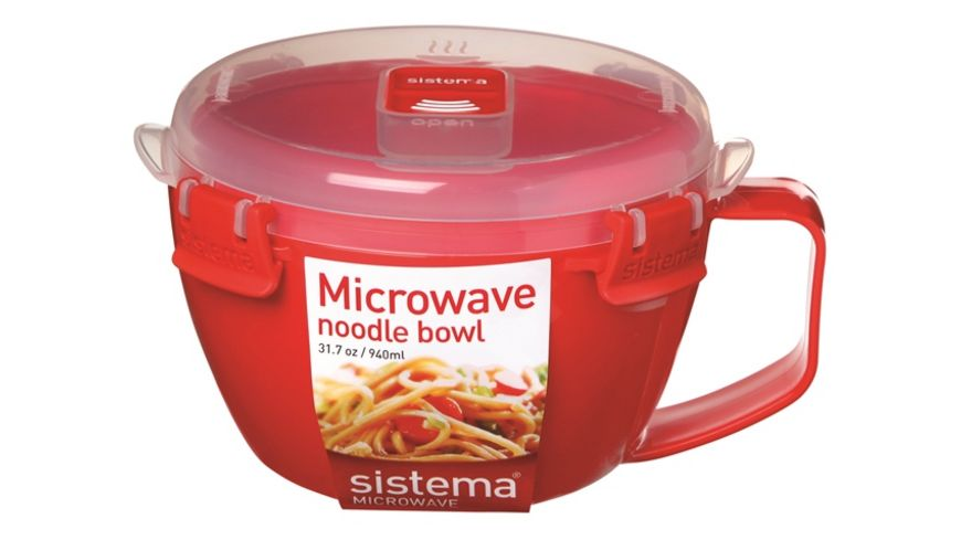 Sistema Mikrowellen Suppentasse 940 ml rot