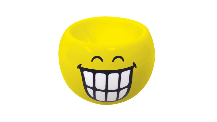 zak Smiley Eierbecher gelb Emoticon Zaehne 6cm