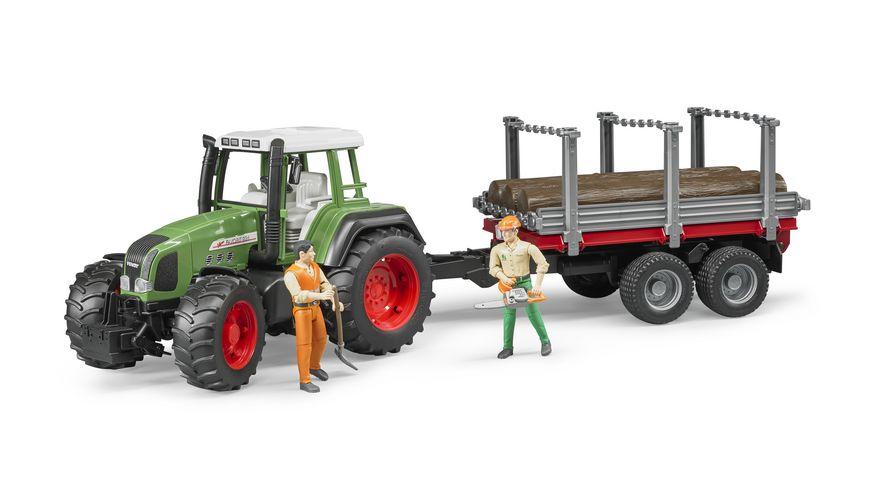 BRUDER Holzransportanhaenger mit 3 Baumstaemmen 02213