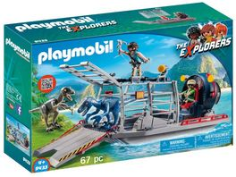 PLAYMOBIL 9433 Propellerboot mit Dinokaefig