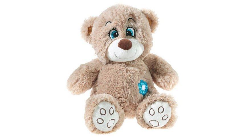 Heunec Flower Power Glitter Teddy braun 26 cm