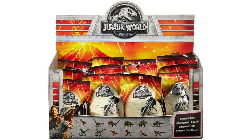 Mattel Jurassic World Mini Action Dinos Sammelfigur Blindbag