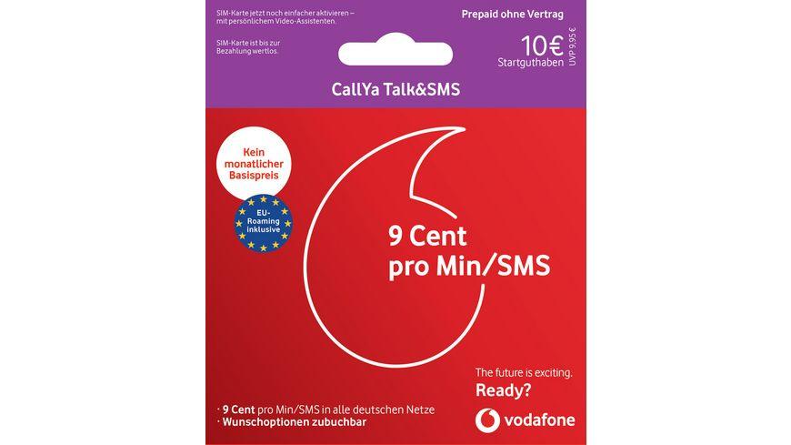 vodafon prepaid karte SIM KARTE VODAFONE 9,99,CALLYA TALK+SMS MUELLER online bestellen