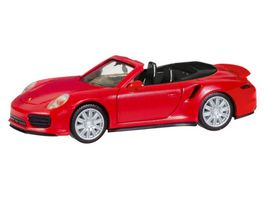 Herpa 028929 Porsche 911 Turbo Cabriolet indischrot