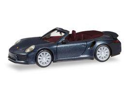 Herpa 038928 Porsche 911 Turbo Cabriolet tiefschwarzmetallic