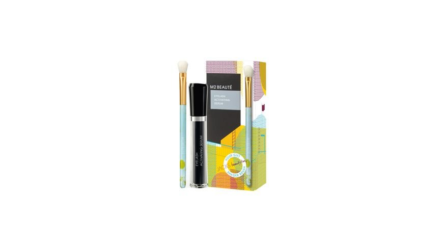 M2 BEAUTE Modern Summer Eyelash Activating Serum Schattierpinsel Set