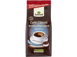 Alnatura Cafe Classic entkoffeiniert gemahlen