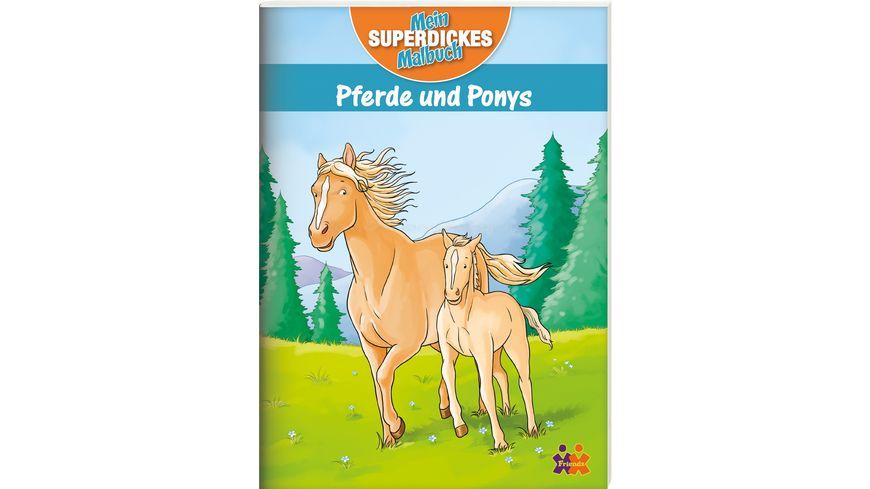 Buch Kids Concepts Pferde und Ponys Mein superdickes Malbuch