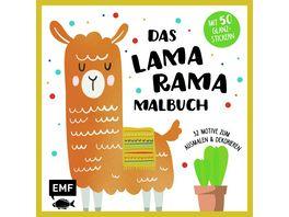 Lama Rama Malbuch mit 50 Glanzstickern