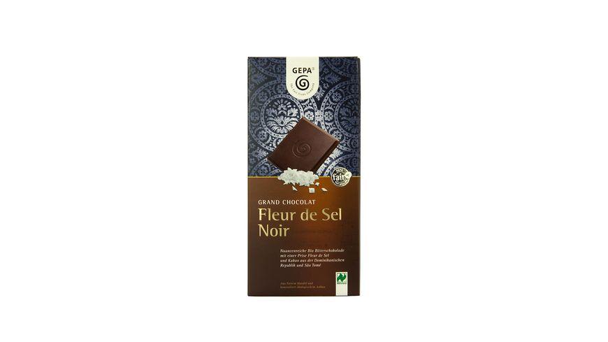 GEPA Bio Grand Chocolat Fleur de Sel Noir