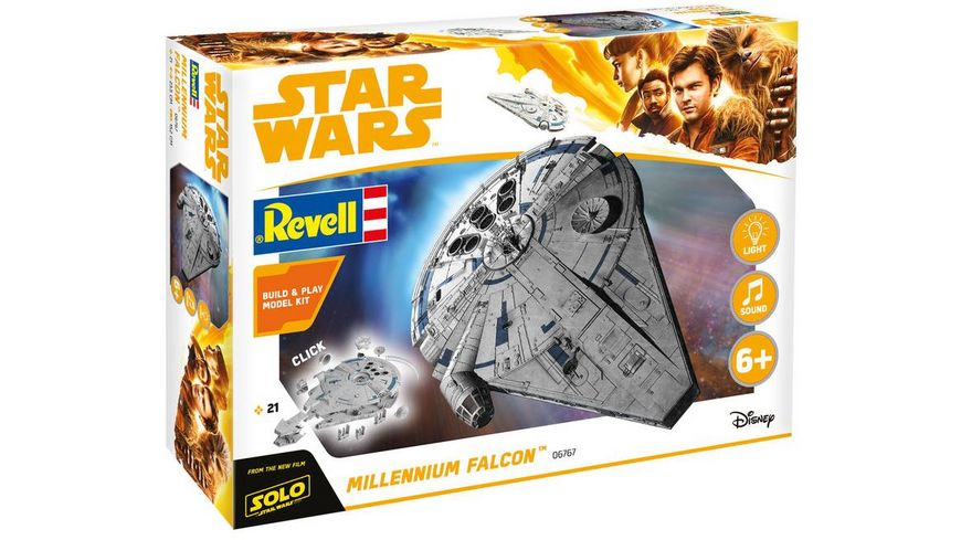 Revell 06767 Star Wars Solo Build Play Millennium Falcon