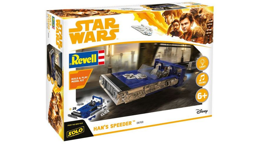 Revell 06769 Star Wars Solo Build Play Han s Speeder