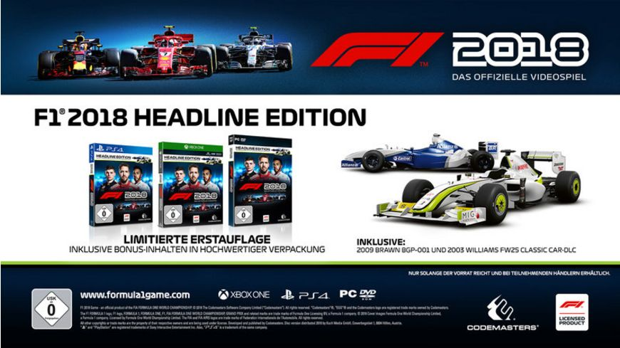 F1 2018 Headline Edition