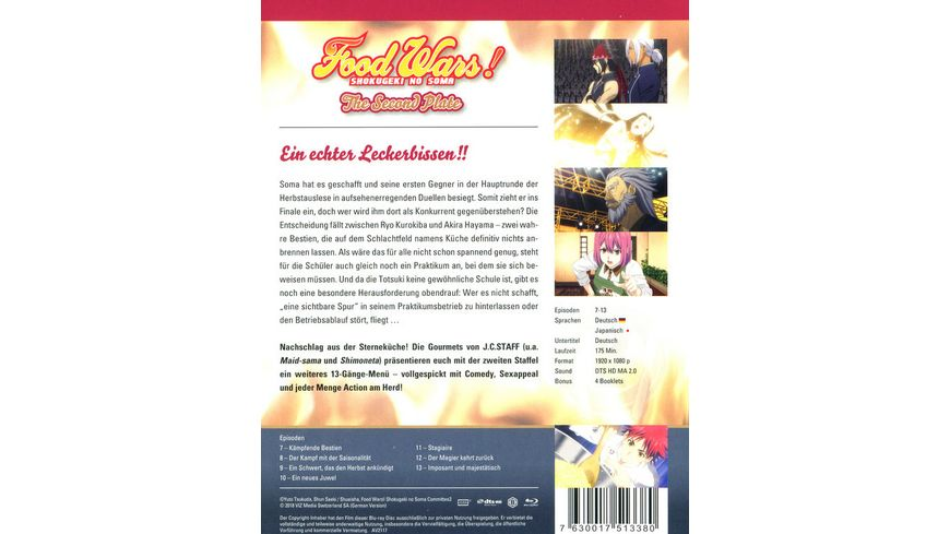 Food Wars The Second Plate 2 Staffel Blu ray 2