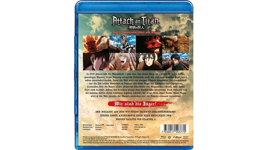 Attack on Titan Anime Movie Teil 1 Feuerroter Pfeil und Bogen