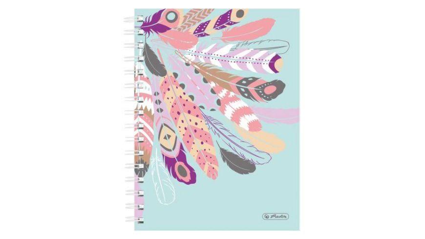 herlitz Notizblock Spiralboutiquebuch A5 Federn