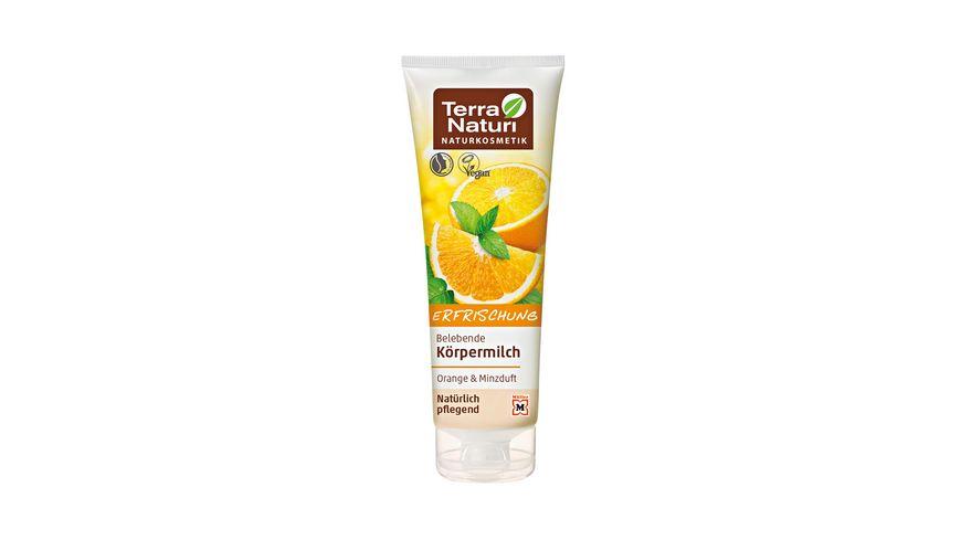 Terra Naturi Koerpermilch Orange Minzduft