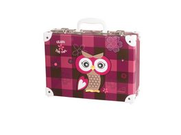 SCHNEIDERS Handarbeitskoffer Olivia the Owl Dark Red