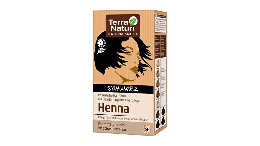 Terra Naturi Henna Pflanzenhaarfarbe Schwarz