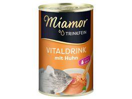 Miamor Katzengetraenk Trinkfein Vitaldrink mit Huhn