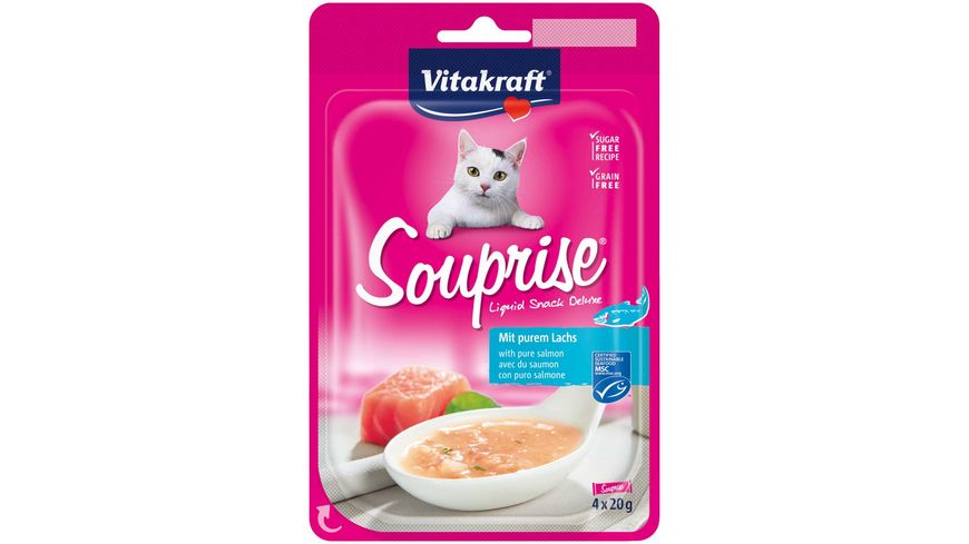 Vitakraft Katzensnack Souprise mit Lachsfilet