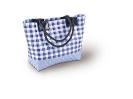 Tasche blau kariert