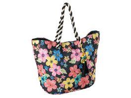 Tasche schwarz mit Blumen