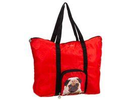 SIR HENRY Einkaufstasche faltbar rot