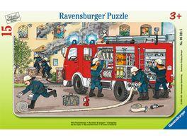 Ravensburger Puzzle Rahmenpuzzle Mein Feuerwehrauto 15 Teile