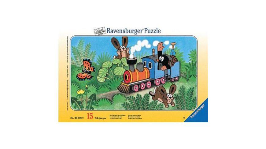 Ravensburger Rahmenpuzzle Der Maulwurf als Lokfuehrer 15 Teile